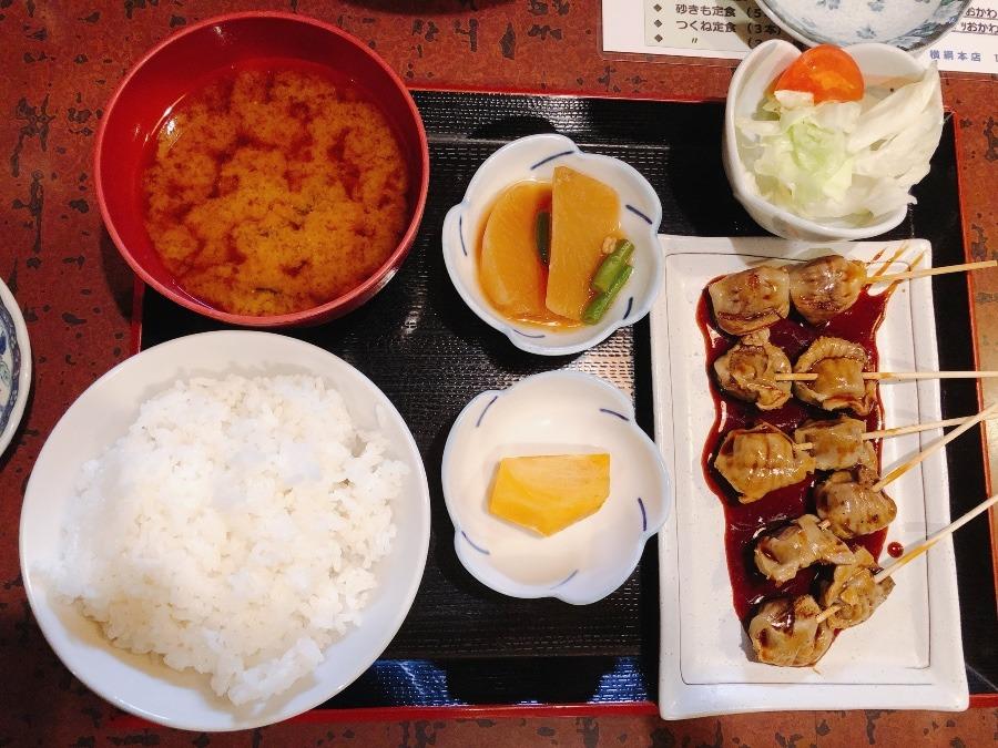 砂肝定食@やきとり横綱本店